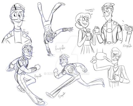 LazyTown - Sportacus Concepts by EnvyQ00