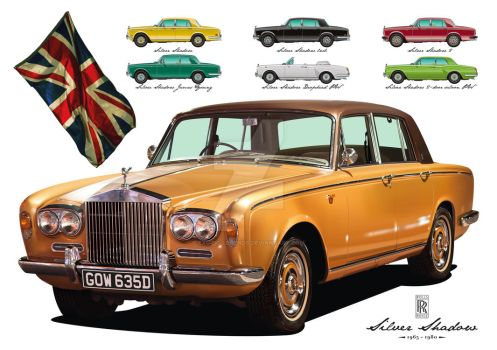 Rolls-Royce Silver Shadow - Vector Art by exotic-legends