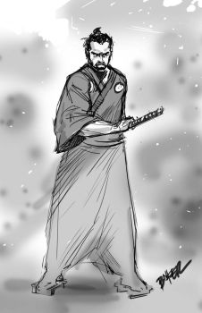 Yojimbo Quick Sketch by BienFlores