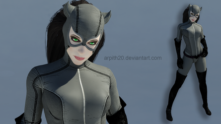 BAK_Catwoman Grey Suit Mod for XPS by arpith20