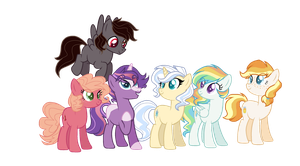 Quasarverse Mane Six by ThePegasisterPony