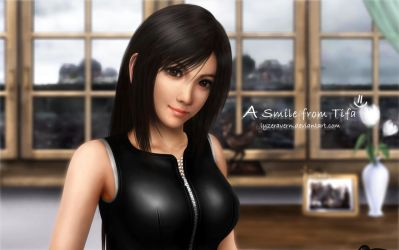 FFVIIAC: A Smile From Tifa by lyzeravern