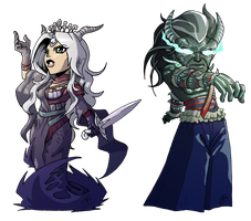 cms- An and Tharusk chibis by FontesMakua