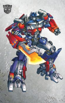 DOTM Optimus Prime by Dan-the-artguy