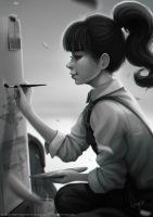 Ms Assistant Kaoru Live Painting by magion02