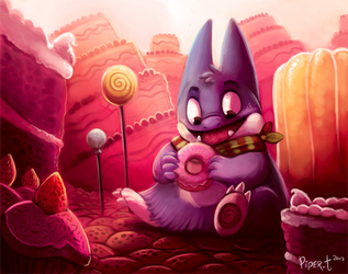 Daily 2 - A Munchlax Paradise by Cryptid-Creations