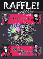 [CLOSED] Adopt Raffle - Skellixi vs Glitch Beasts! by FlyingCarpets