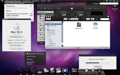 Snow Leopard Black OS X 10.6.8 Fall 2014 update by wavespell
