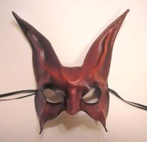 Red Rabbit Leather Mask by teonova