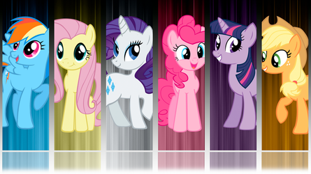 My Little Pony FIM 6 Mane Abstract Wallpaper by BlueDragonHans