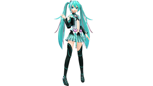 Project Diva X Anode Electronica Miku by WeFede