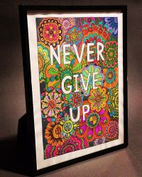 Never give up Frame by Eveint