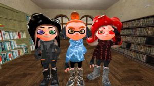 kiara , annette and me : Splatalorians by alex12357