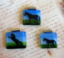 Horse Fields Fused Glass by FusedElegance