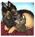 Pet Portrait Commissions - Dorothy + Wasabi by Marker-Guru