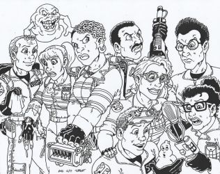 Ghostbusters inks by Crash2014