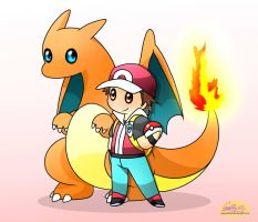 Red and Charizard by Spice5400