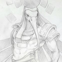 thoth - 30 min speed drawing by NooKiN
