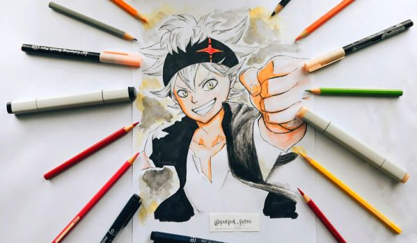 Asta from Black Clover by exoofink311