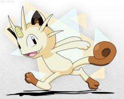 Meowth - Abstract Freedom by roddz-art