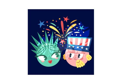Statue of Liberty and Uncle Sam