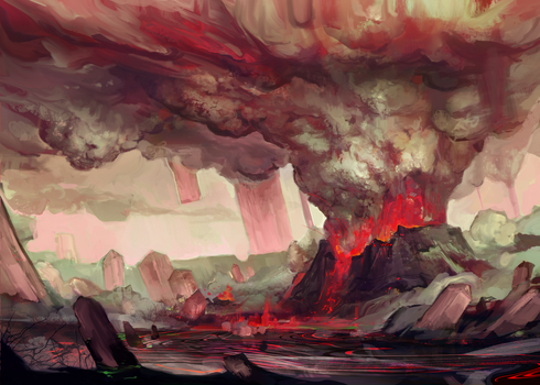 Mysthea: the Onyx Volcano by Travis-Anderson