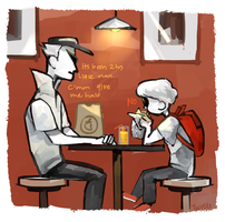 Adventures of Bro and lil bro: Chipotle by mangoranger