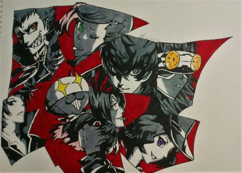 Persona 5 The Phantom Thieves of Heart by Argen-0042