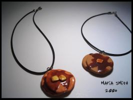 Polymer Clay Pancake trinkets by chat-noir