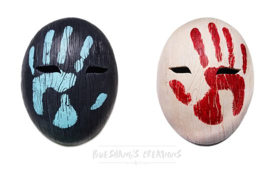 Hand Print - Oval Mask by Bueshang