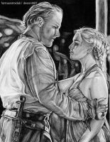 You have a gentle heart.   Jorah and Dany by Fantaasiatoidab