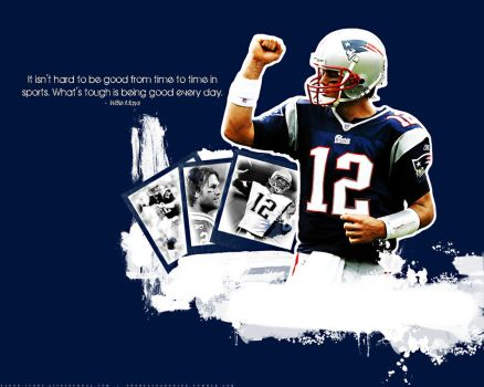 Tom Brady wallpaper by faded-ink