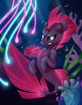 Tempest Betta Fish - Digital Painting by Mdragonflame