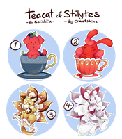 Teacats and Stilytes -Adopts collab -[3/4OPEN] by scribblin