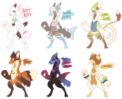 Unnamed species adopt batch 1 (CLOSED) by Ponacho