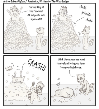 -Comic- Domino the King of Peaches by GuineaPigDan