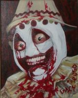 John Wayne Gacy-Pogo the Clown Zombie by fecalgraffiti