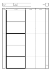 Storyboard Template by Greyfaerie4