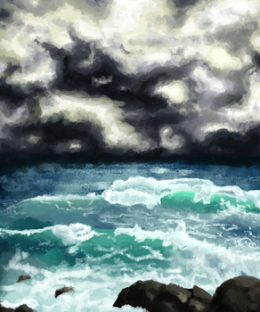 Storm At Sea by forgotten-light