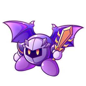 Meta Knight sticker by MegaBuster182