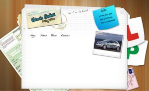 Driving Website Template 2 by kandiart