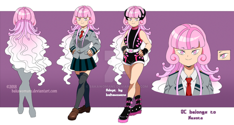 : [ Jellyfish Girl ] BNHA OC Adopt Reference : by bakawomans