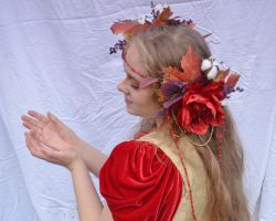 Lady of Fall 7 by RachgracehStock