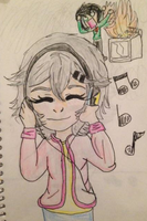 20 way to draw your OC day 3: listening 2 music by Icestromflash