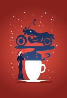 Black Coffee - Americano by Coolgraphic