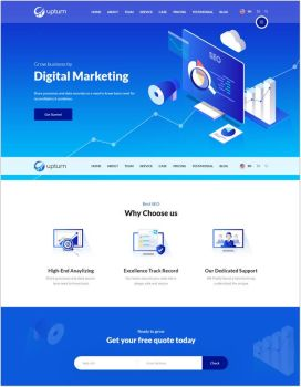 SEO And Digital Marketing Agency Html Template by templatefor