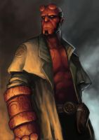 Hellboy Color by troubadour93