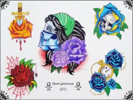 Roses Flash Sheet 1 by mgcogan