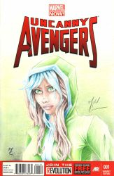 Uncanny Avengers 001 Cover Rogue by MCarmean