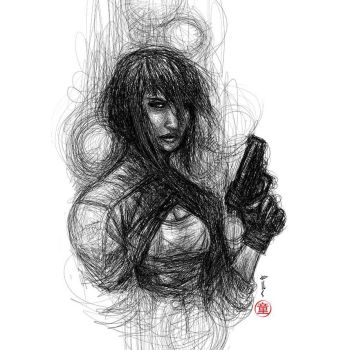 MOTOKO KUSANAGI GHOST IN THE SHELL by deemonproductions